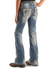 Miss Me Girls' Embellished Indigo Jeans - Bootcut , , hi-res