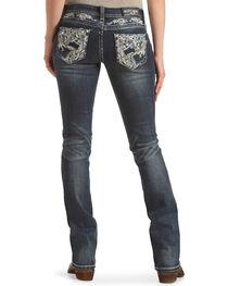 Grace in LA Women's Blue Rawedge Pocket Jeans - Boot Cut , , hi-res