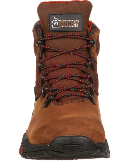 Rocky Bigfoot Waterproof Hiker Work Boots - Round Toe, Brown, hi-res