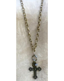 InspireDesigns Women's Iron Cross Cluster Long Necklace , , hi-res