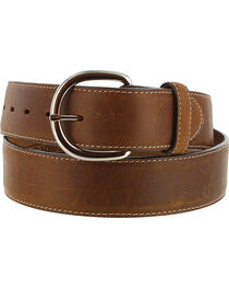 Silver Creek Men's Brown Classic Western Leather Belt , , hi-res