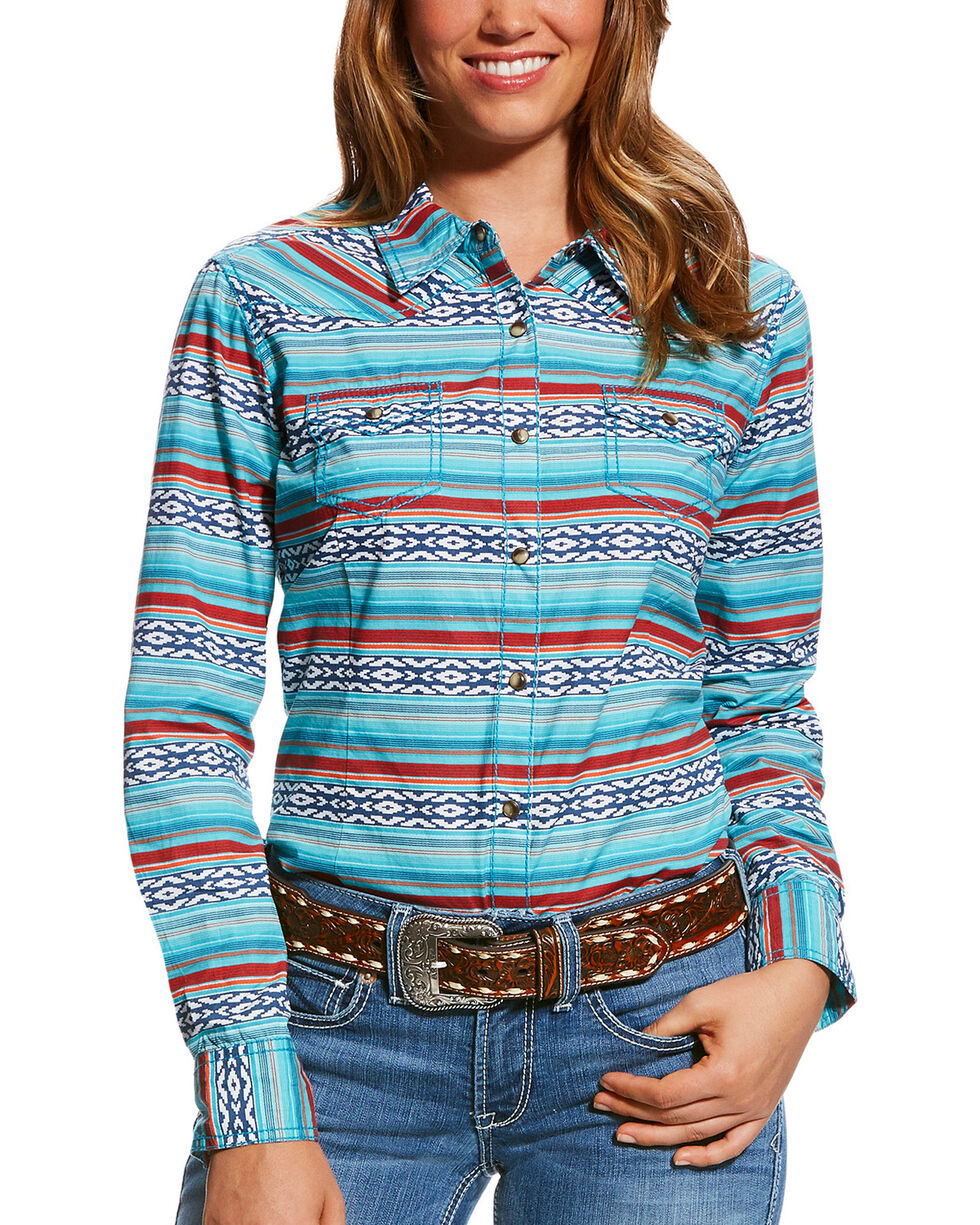 Ariat Women's R.E.A.L. Serape Long Sleeve Snap Shirt, Multi, hi-res