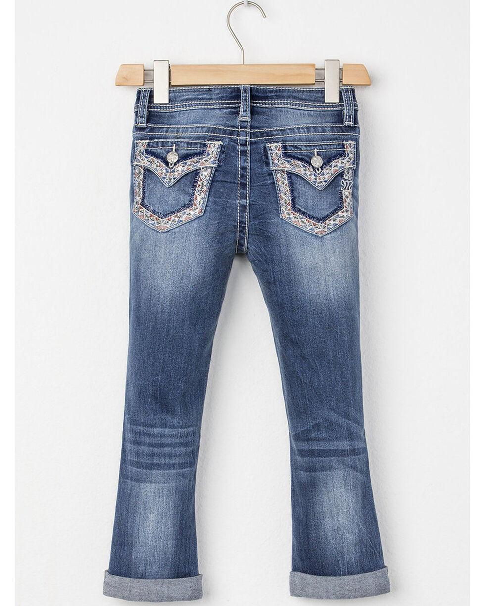 Miss Me Girls' Globe Trotter Capri Jeans, Blue, hi-res
