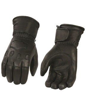 Milwaukee Leather Men's Deerskin Thermal Lined Gauntlet Glove, Black, hi-res