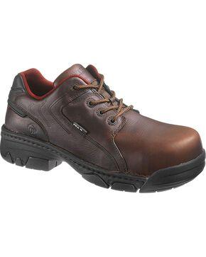Wolverine Men's Falcon Composite Toe Oxford Work Shoes, Brown, hi-res