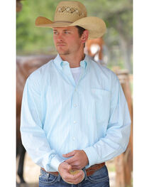 Cinch Men's Light Blue Button Down Shirt, , hi-res