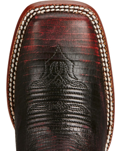 Ariat Women's Red Ombre Lizard Print Western Boots, , hi-res
