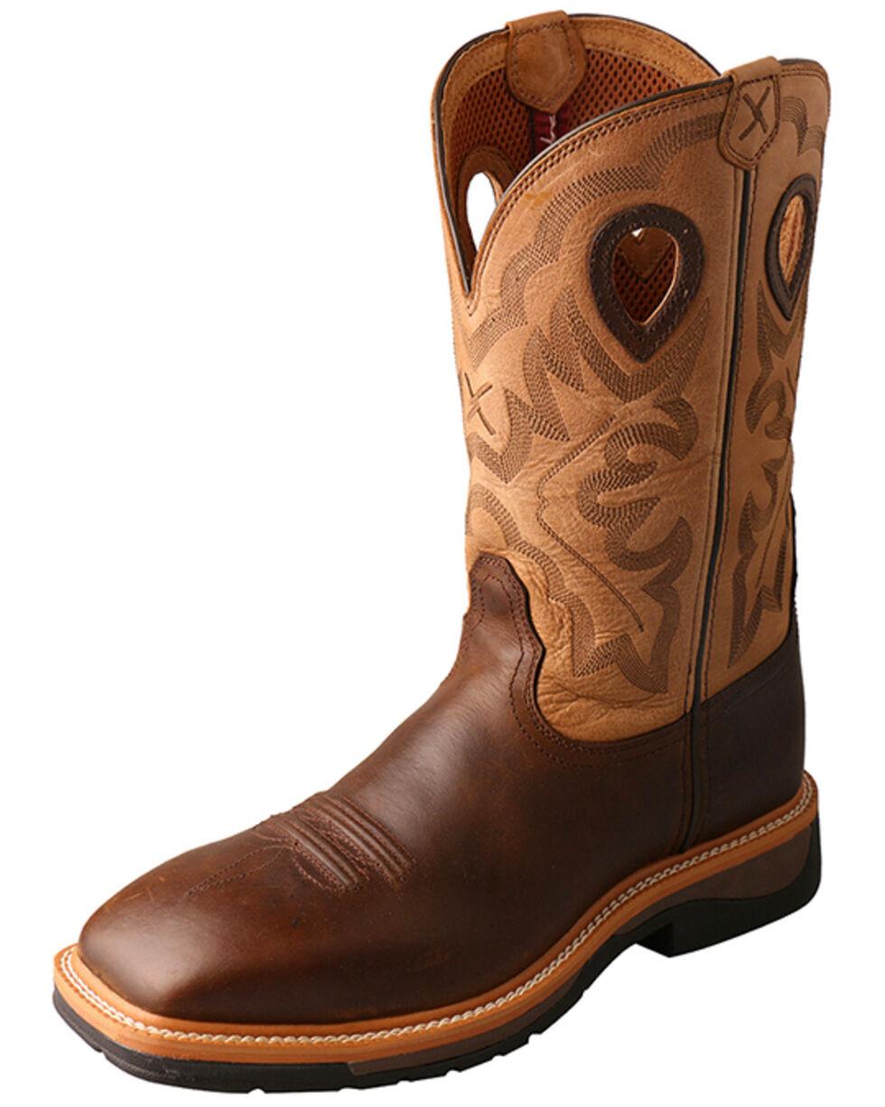 Twisted X Hazel Lite Weight Cowboy Work Boots - Steel Toe , Brown, hi-res