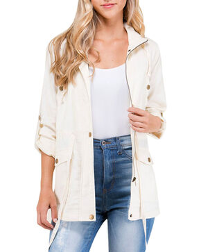 Polagram Women's Lace Embroidered Jacket, Ivory, hi-res