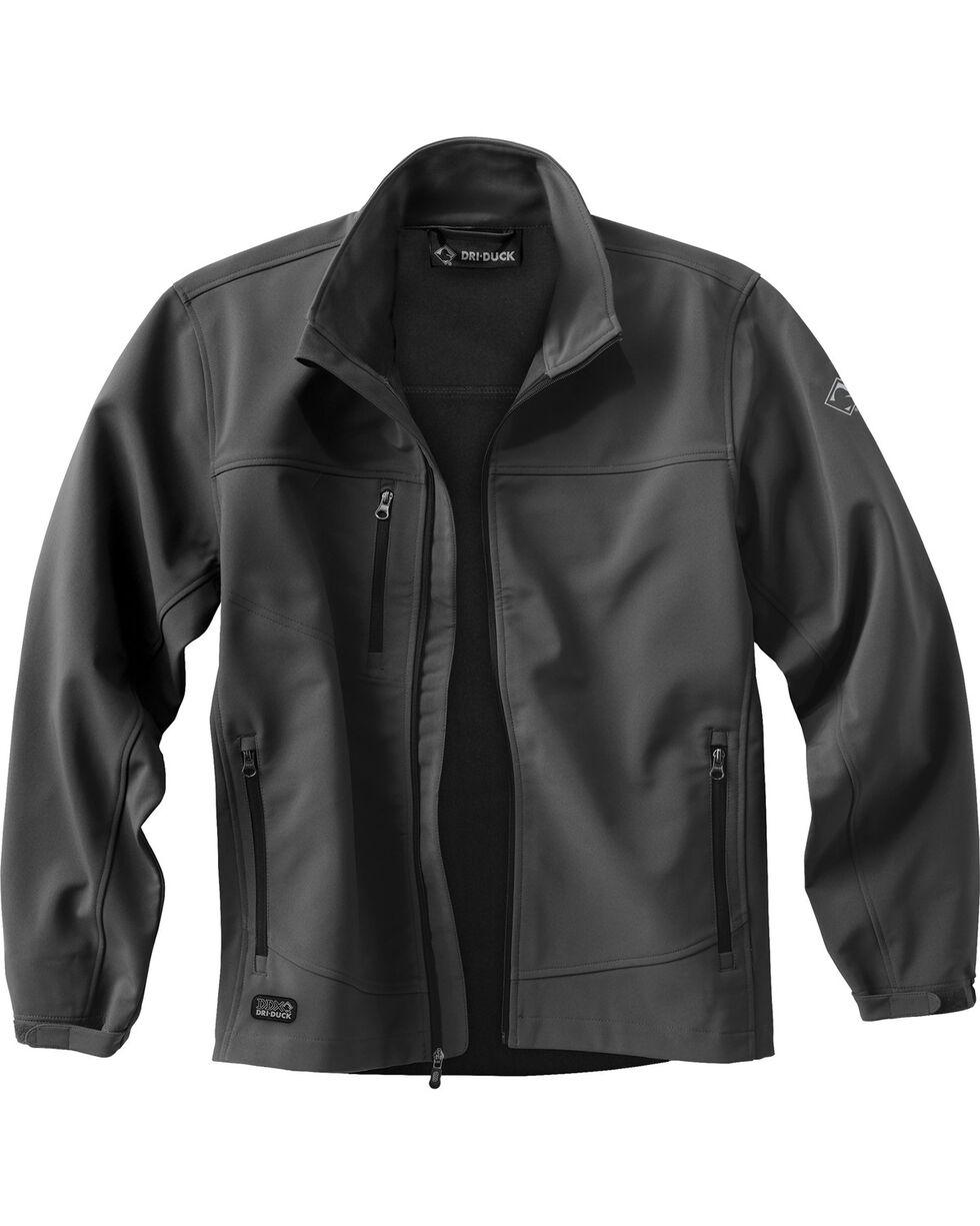 Dri Duck Men's Motion Softshell Jacket - 3X & 4X, Charcoal Grey, hi-res