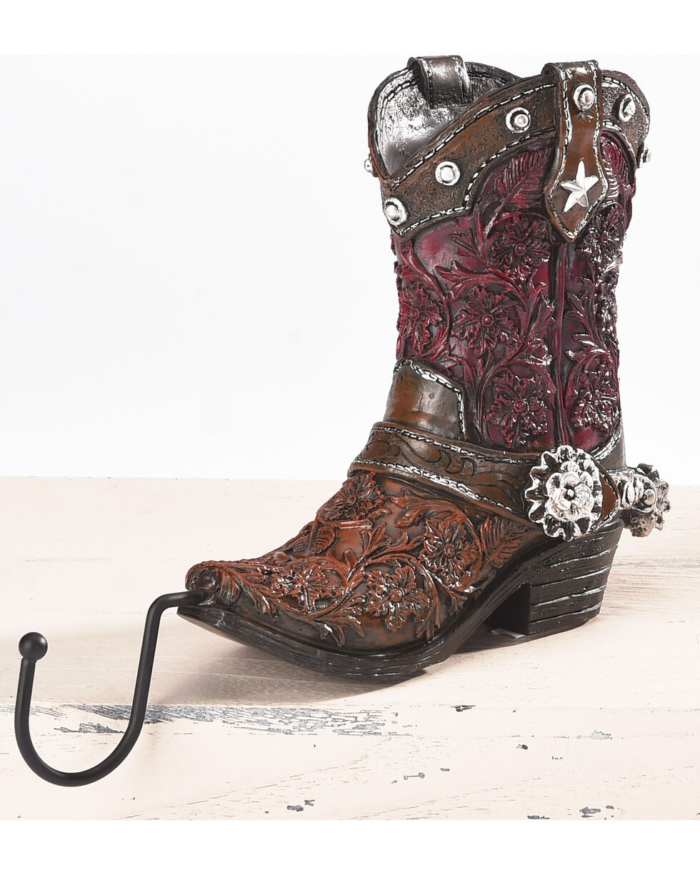 BB Ranch Western Boot Stocking Holder - Red, Red, hi-res