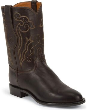 Tony Lama Men's 10' Roper Western Boots, Chocolate, hi-res