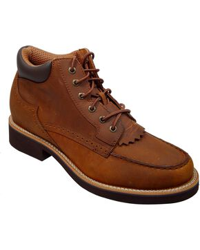 Twisted X Men's Lace-Up Chuck Up Shoes, Saddle Brown, hi-res
