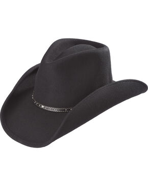 Cody James Men's Black Felt Pinch Front Western Hat, Black, hi-res