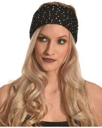 Shyanne Women's Black Starlight Ear Warmer, , hi-res