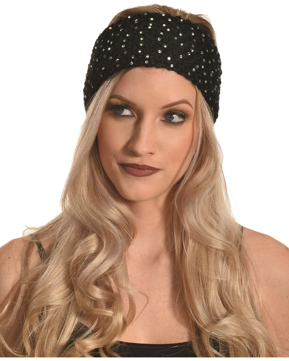 Shyanne Women's Black Starlight Ear Warmer, Black, hi-res