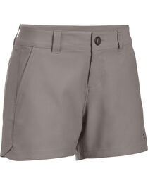 "Under Armour Women's Grey Fish Hunter 4"" Inseam Shorts, , hi-res"
