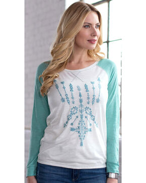 Ryan Michael Women's Embroidered Baseball Tee, Lt Green, hi-res