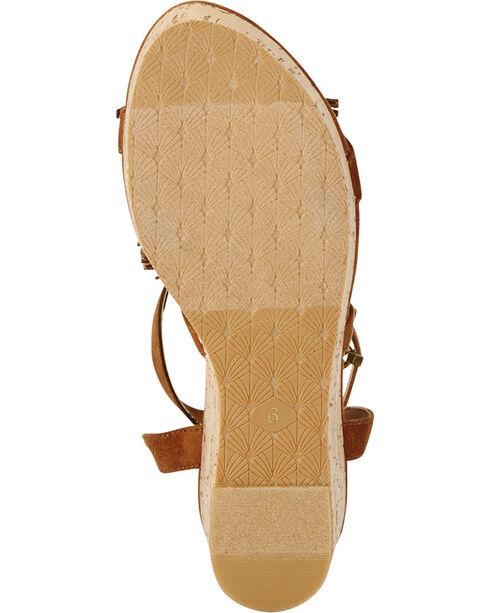 Ariat Women's Unbridled Lolita Wedge Sandals, Brown, hi-res