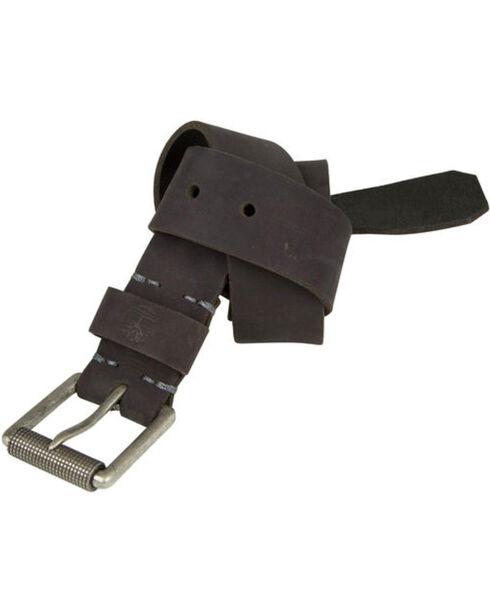 Timberland Men's 40MM Roller Buckle Leather Belt, Black, hi-res