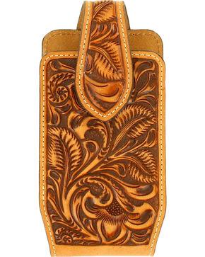 Nocona Floral Embossed Phone Case , Tan, hi-res