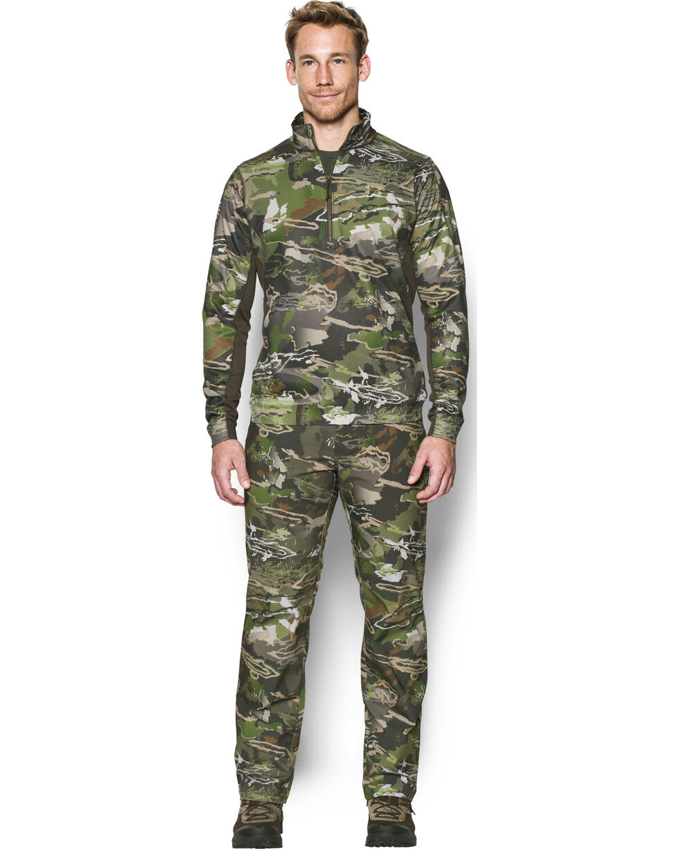Under Armour Men's Camouflage Microthread Fleece 1/4 Zip Pullover, Camouflage, hi-res