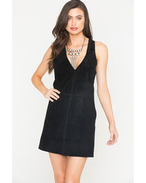 MI.OH.MI. Women's Suede Sleeveless Dress, , hi-res