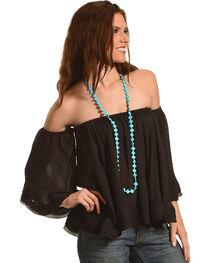 HYFVE Women's Off The Shoulder Flowing Long Sleeve Top, , hi-res