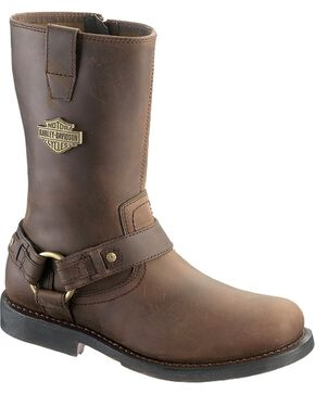 Harley-Davidson Men's Josh Harness Motorcycle Boots, Brown, hi-res