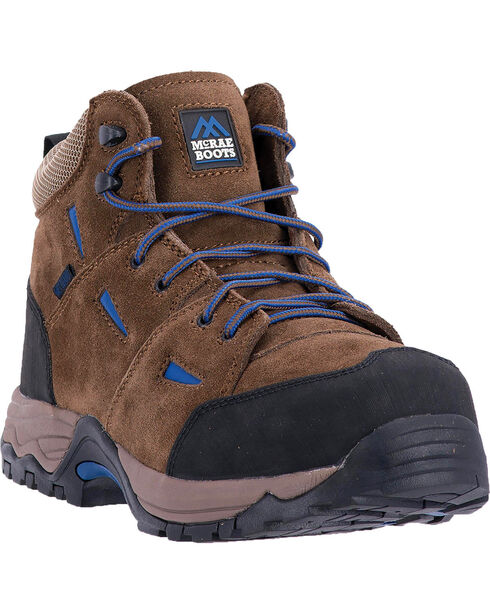 McRae Men's Suede Non-Metallic Met Guard Work Boot - Composite Toe, Brown, hi-res