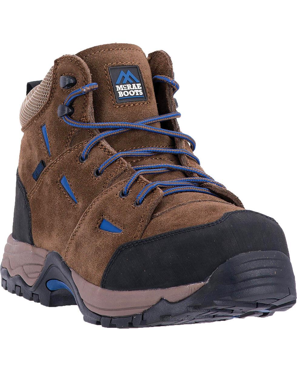 McRae Men's Suede Non-Metallic Met Guard Work Boots - Composite Toe, Brown, hi-res