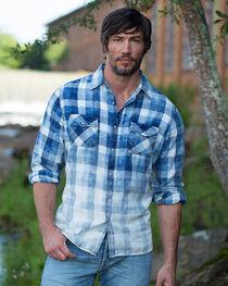 Ryan Michael Men's Faded Bleach Gingham Shirt - Big and Tall , , hi-res