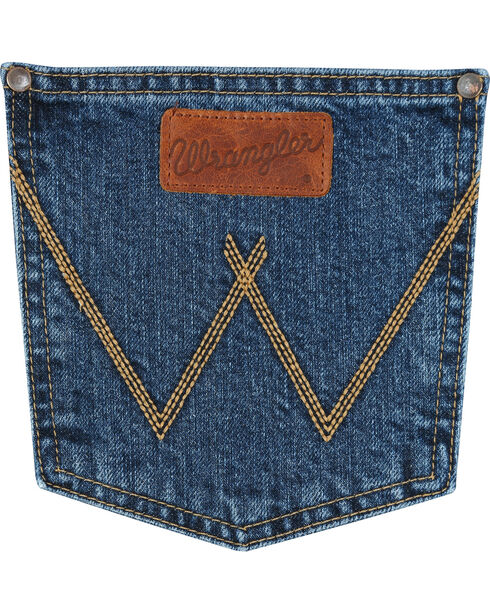 Wrangler Retro Men's Relaxed Fit Straight Leg Jeans - Tall, Blue, hi-res