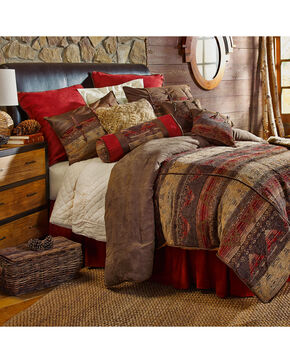 HiEnd Accent 7-Piece Full Luxury Chenille Suede Sierra Bedding Set, Multi, hi-res