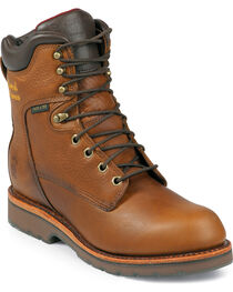 Chippewa Men's Waterproof Steel Toe Country Work Boots, Tan, hi-res