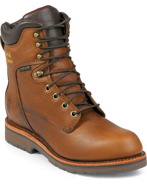 "Chippewa Men's Country 8"" Work Boots, Tan, hi-res"
