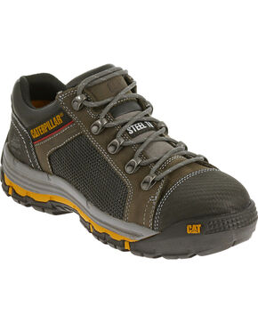 Caterpillar Men's Grey Convex Lo Work Shoes - Steel Toe , Grey, hi-res