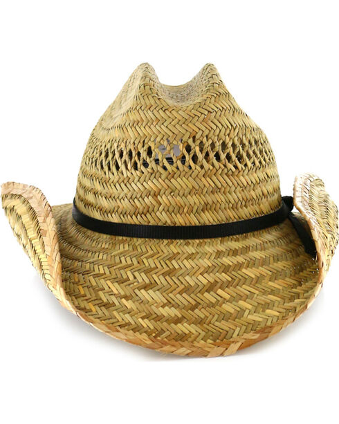Cody James® Men's Rush Straw Cowboy Hat, Natural, hi-res