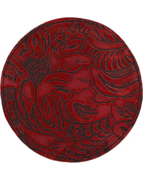 BB Ranch  Red Engraved Filigree Coasters, No Color, hi-res