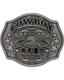 Montana Silversmiths Cowboy Up Buckle, , hi-res