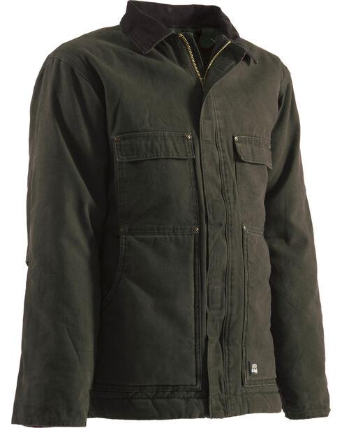 Berne Original Washed Chore Coat - Tall Sizes, Olive Green, hi-res