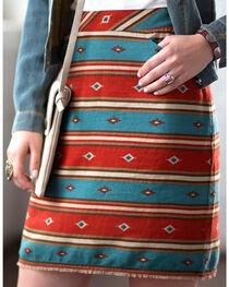 Ryan Michael Women's Serape Stripe Skirt, , hi-res