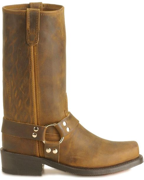 Double-H Men's Harness Motorcycle Boots, Tan, hi-res