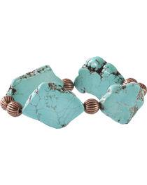 Jewelry Junkie Turquoise Slab Stretch Bracelet, , hi-res