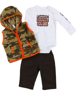 Carhartt Infants' Hunt Club Pant Set, Tan, hi-res
