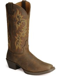 """Justin Men's Stampede Western 13"""" Square Toe Boots, , hi-res"""