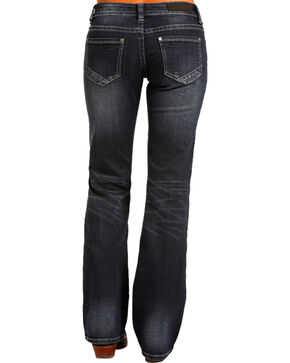 Rock & Roll Cowgirl Women's Low Cut Riding Jeans - Boot Leg , Indigo, hi-res