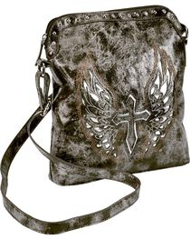 Blazin Roxx Cross with Wings Messenger Bag, , hi-res