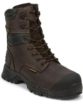 Justin Men's Original Waterproof Composite Toe Work Boots, Brown, hi-res