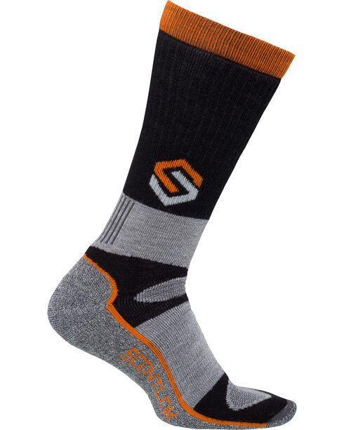 Scentlok Technologies Men's Black Merino Thermal Crewmax Socks, Black, hi-res